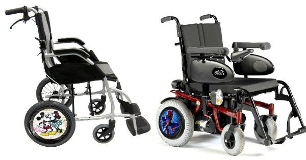 WHEELCHAIR & POWERCHAIR Personalised Spoke Guards MOTORBIKE FLAMES Design